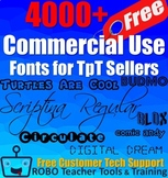 4000 Free Commercial Use Fonts for TpT Sellers & Other Teachers