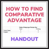 """Economics Handout: """"How to Find Comparative Advantage"""""""