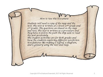 How to Find Pirate Treasure - Map and Procedural Reading Passage