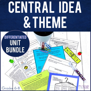 Central Idea and Theme Mini Unit with PowerPoint, Pixanotes, Word Wall & More!