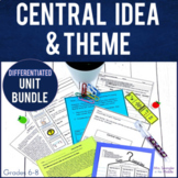Central Idea and Theme Mini Unit with PowerPoint, Pixanote