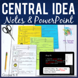 Central Idea Main Idea Guided Notes PowerPoint Interactive Notebook Foldable