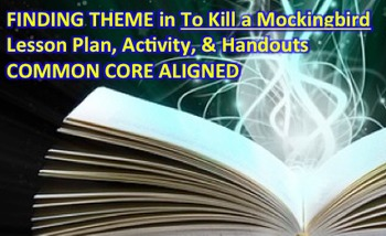 How to Find Theme in To Kill a Mockingbird LESSON PLAN, Activity, Handouts