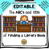 How to Find a Library Book - EDITABLE