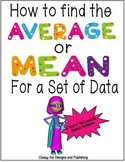 How to Find an Average or Mean