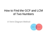 How to Find the GCF and LCM:  A Venn Diagram Method