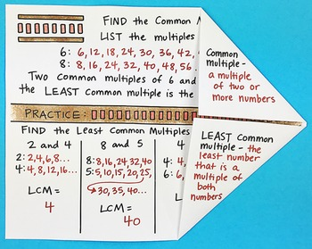How to Find the Least Common Multiple Interactive Notebook Foldable Math Doodles