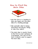How to Find the Main Idea Reading Strategy Poster