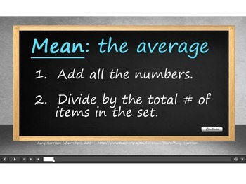 How to Find the Mean or Average (.swf file)