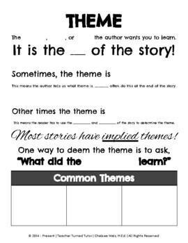 How to Find the Theme of a Story (Theme, Lesson, Message, Motif, and/or Moral)