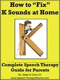K Sounds - Home Speech Therapy Program