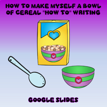 How to Make Myself a Bowl Of Cereal Procedural Writing in Google Slides™
