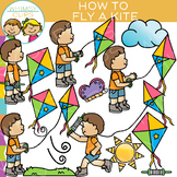 How to Fly a Kite: Sequencing and Spring Clip Art
