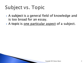 How to Focus an Essay Topic