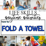 How to Fold a Towel Life Skill Anytime Activity | Life Skills Activities