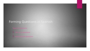 How to Form Questions in Spanish