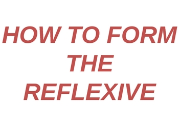 How to Form the Reflexive Powerpoint