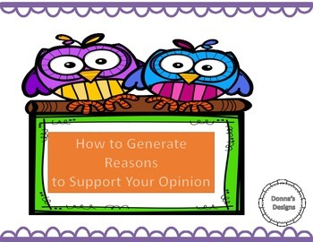 How to Generate Reasons to Support Your Opinion
