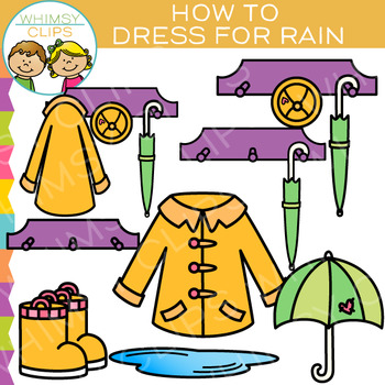 How to Get Dressed for Rainy Weather Clip Art