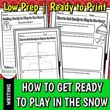 How to Get Ready to Play in the Snow - Winter Writing Activity