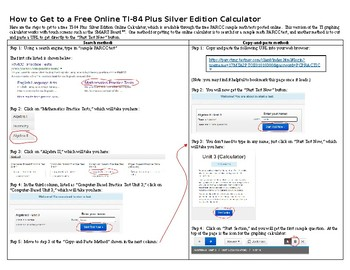 How to Get to a Free Online TI 84 Plus Silver Edition Calculator (Editable)