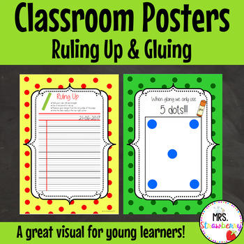 How to Glue and Ruling Up Posters