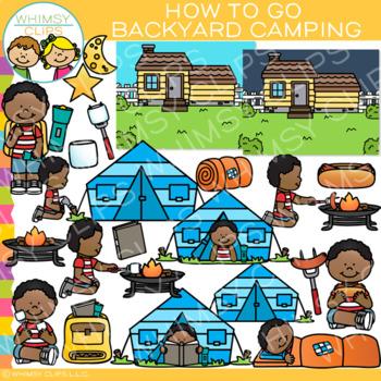 How to Go Backyard Camping Clip Art