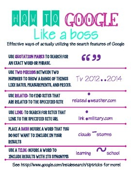How to Google Search Like a Boss!--Researching