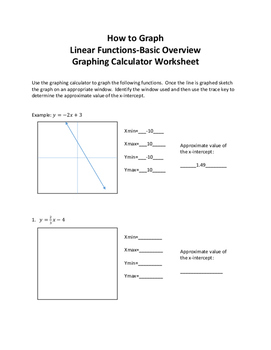 how to graph linear functions basic overview graphing calculator worksheet - Graphing Linear Functions Worksheet