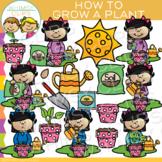 How to Grow a Plant Clip Art