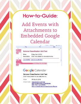 How-to-Guide: Add Events with Attachments to Embedded Goog