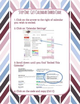 How-to-Guide: Embed Google Calendar to Teacher Website
