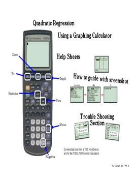 How to Guide for Quadratic Regression~Ti83/84  Calculator