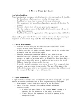 How to Guide for Writing Essays! Highly Detailed!