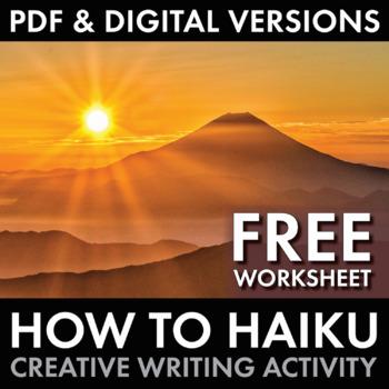 how to haiku japanese 5 7 5 poetry form worksheet for grades 5 12 free. Black Bedroom Furniture Sets. Home Design Ideas