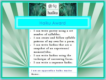 How to Haiku - a two week poetry unit