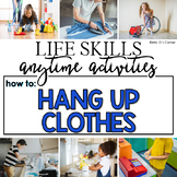 How to Hang Up Clothes Life Skill Anytime Activity | Life Skills Activities