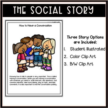 How to Have a Conversation- A Social Story Activity