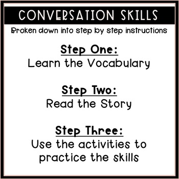 Conversation Social Story