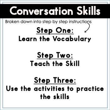 Conversation Social Skills Story