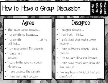 How to Have a Group Discussion & Still Like Each Other When You're Done FREEBIE!