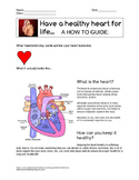 How to Have a Healthy Heart For Life Health Lesson. Answer Key.