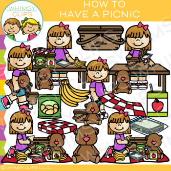 How to Have a Picnic Clip Art