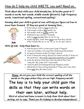 how can parents help with writing at home