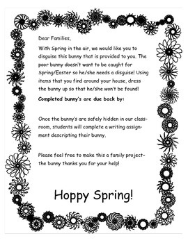 How to Hide a Bunny Spring/Easter Activity and Writing