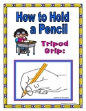 How to Hold a Pencil Poster