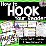 How to Hook Your Readers -- PowerPoint and Worksheets!!