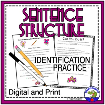 Sentence Structure Handout and Worksheet