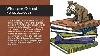 Introducing Critical Perspectives in Literature (lecture based)