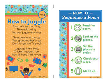 How to Juggle - ug Word Family Poem of the Week